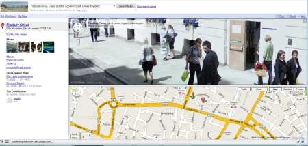 Clearly Recognisable People on Finsbiry Circus - London Street View