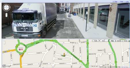 Willow Street, London - Lorry Driver taking a break, or driving with no hands?