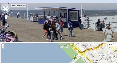 Santa Monica Pier - Google Streetview Image - Oatman Rock Shop