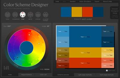 Color Scheme Chart