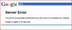 Google Mail Server is Down!