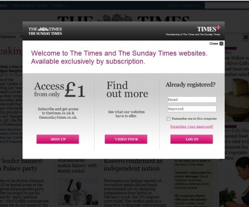 The Times Online Subscription