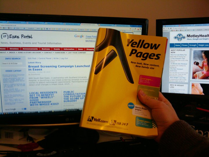 england yellow pages