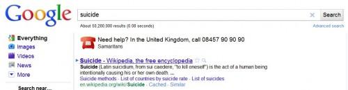 Google samaritans suicide