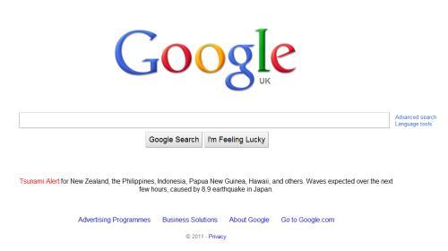 Japan Eathquake Tsunami Google