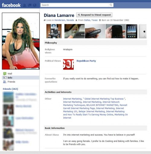 Diana Lamarre, my new Facebook friend!