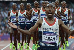 Mo Farah Running Away From Mo Farrahs