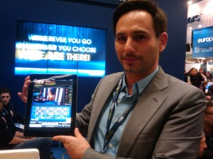 Offir Keren, William Hill's Casino Product Marketing Manager showing off Live Casino.