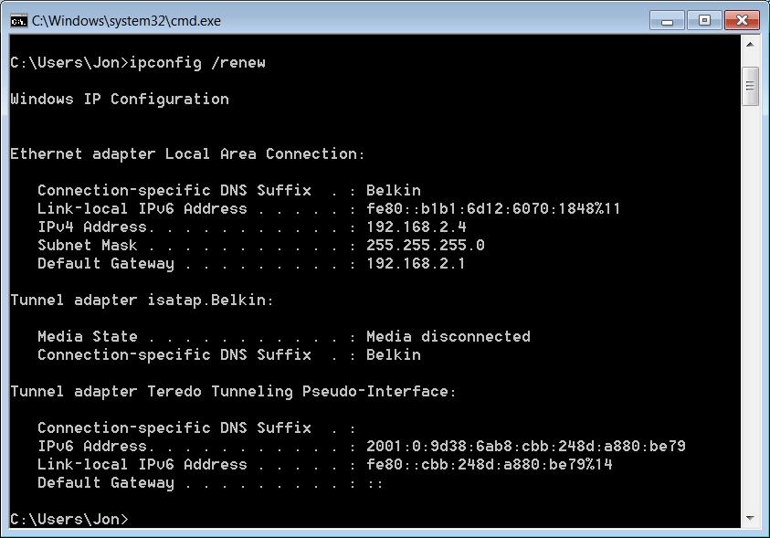 Renew DNS