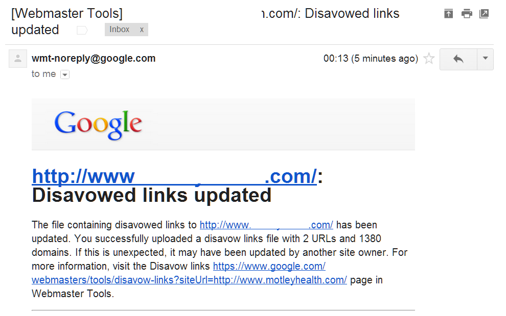 Disavowed Links