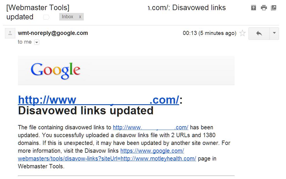 Disavowed Links