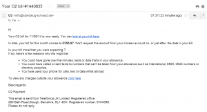 O2 bill scam virus email