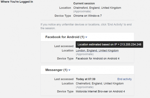 facebook sessions  ip address