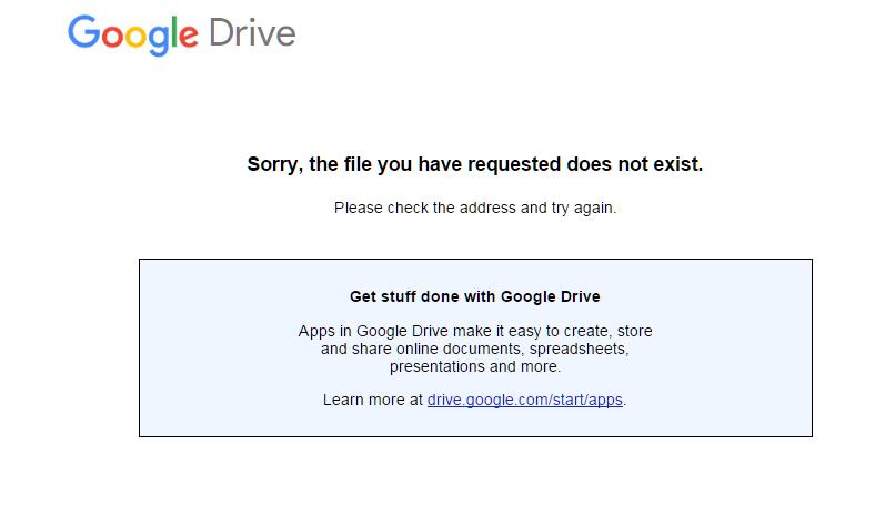 Google Drive Gone